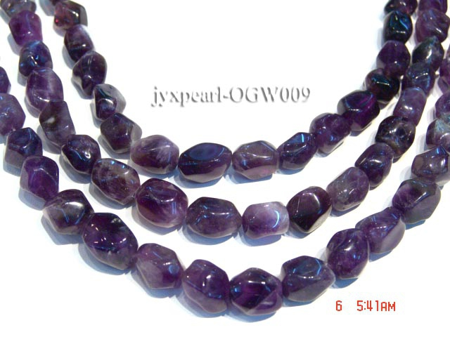 Wholesale 13x16mm Irregular Faceted Amethyst Chips String