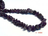 Wholesale 15x20mm Irregular Translucent Amethyst Chips String
