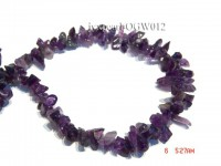Wholesale 8x15mm Irregular Translucent Amethyst Chips String