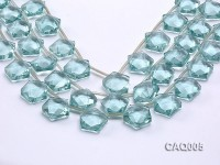Wholesale 20mm Star-shaped Simulated Aquamarine Beads String