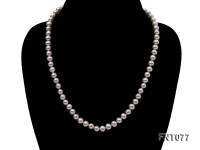 7-7.5mm White Round Freshwater Pearl Necklace and Bracelet Set