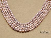 Wholesale 6.5x8mm Natural Pink Rice-shaped Freshwater Pearl String