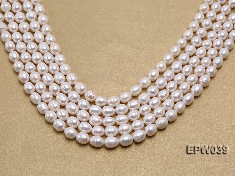 Wholesale 7-8mm Classic White Rice-shaped Freshwater Pearl String