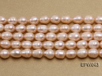 Wholesale 9X11.5mm Lovely Pink Rice-shaped Freshwater Pearl String