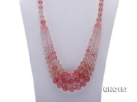 8mm Watermelon Quartz Three-Row Necklace