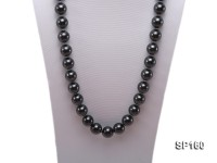 16mm black round seashell pearl necklace