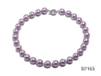 14mm purple round the south seashell pearl necklace