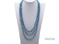 7-8mm blue flat freshwater pearl necklace