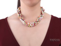 5-8mm Multi-color Cultured Freshwater Pearl Necklace