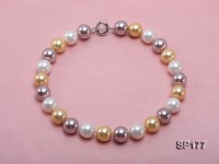 16mm multicolor round seashell pearl necklace