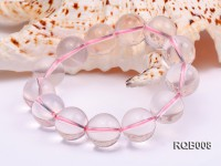 15.5mm Round Rose Quartz Beads Bracelet