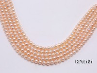 Wholesale AAA-grade  8-9mm Pink Round Freshwater Pearl String