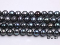 Wholesale  A-grade 8.5-10mm Black Blue Round Freshwater Pearl String