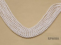 Wholesale 5.5×7.5mm Classic White Rice-shaped Freshwater Pearl String
