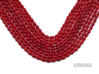 Wholesale 4.5×8 mm Rice-shaped Red Coral Beads Loose String