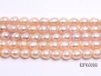 Wholesale 10x11mm White Rice-shaped Freshwater Pearl String