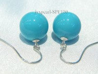 12mm turquoise-blue seashell earrings