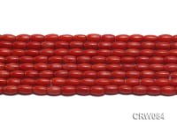 Wholesale 5x9mm Rice-shaped Red Coral Beads Loose String