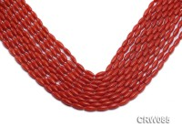 Wholesale 4x10mm Rice-shaped Red Coral Beads Loose String