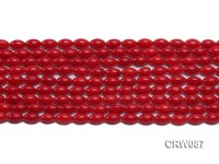 Wholesale 5x8mm Rice-shaped Red Coral Beads Loose String