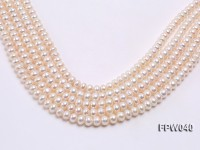 Wholesale 7×9.5mm Nice-quality Classic White Flat Freshwater Pearl String