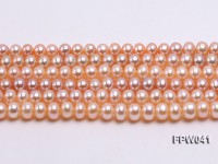 Wholesale 6x8mm Pink/Lavender Flat Cultured Freshwater Pearl String