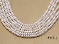 Wholesale 7x9mm White Flat Cultured Freshwater Pearl String