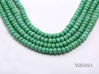 Wholesale 6×9.5mm Wheel-shaped Green Turquoise Beads String