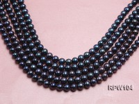 Wholesale High-quality AA-grade 10-11mm Black Round Freshwater Pearl String