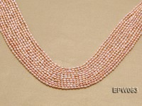 Wholesale 3x4mm  Rice-shaped Freshwater Pearl String