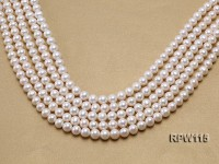 Wholesale 8.5-9mm Classic White Round Freshwater Pearl String