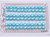 Wholesale Cards of 8.5-9mm Blue Flat Freshwater Pearls—33 Pairs