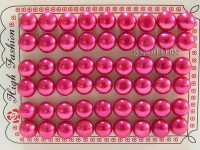 Wholesale Cards of 10-10.5mm Red Flat Pearls—27 Pairs