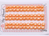 Wholesale Sheets of 8-8.5mm Orange Flat Pearls—33 Pairs
