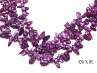 Wholesale & Retail 12x25mm Lavender Irregularly-shaped Pearl String