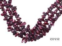 Wholesale & Retail 12x25mm Dark Purple Irregularly-shaped Pearl String