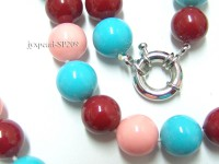 14mm colorful round seashell pearl necklace