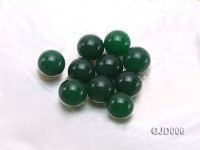 Wholesale 16mm Round Green Jade Beads