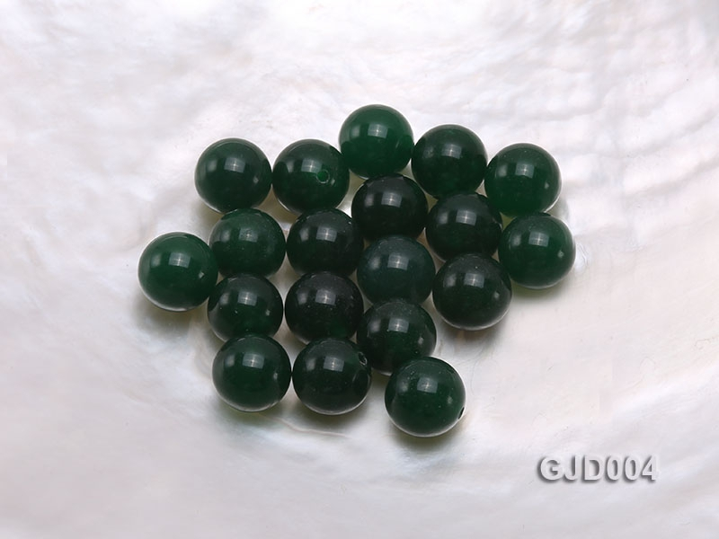 Wholesale 10mm Round Green Jade Beads