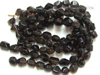 Wholesale 20x25mm Irregular Faceted Smoky Quartz Beads String