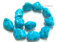 Wholesale 30x45mm Irregular Blue Turquoise Pieces String