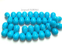 Wholesale 22x35mm Drop-shaped Blue Turquoise Beads String