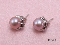 8-9mm Lavender Flat Cultured Freshwater Pearl Earrings
