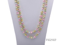 8-9mm multicolor flat freashwater pearl necklace