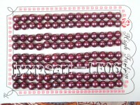 Wholesale Cards of 6-6.5mm Wine Red Flat Pearls—56 Pairs