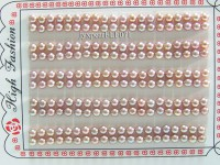 Wholesale Cards of 4-4.5mm Lavender Flat Pearls—100 Pairs