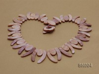 Oval and Ivory-shaped Lavender shell Necklace