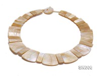 10×20-25x30mm White Shell Pieces Necklace
