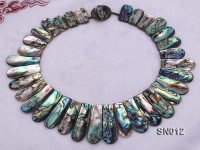 Irregular Colorful Abalone Shell Pieces Necklace