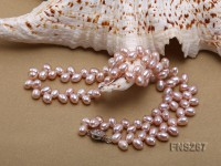 5*8mm natural lavender oval freshwater pearl single strand necklace